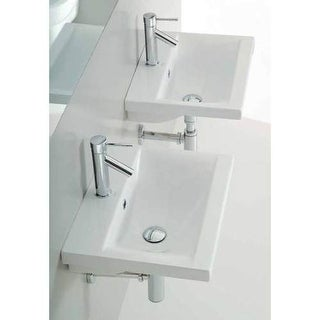 "Althea by Nameeks 30382 Clever 19-7/10"" Ceramic Wall Mounted Bathroom Sink with"
