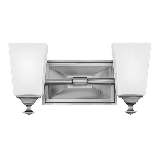 "Hinkley Lighting 56672 Baldwin 2-Light 13-3/4"" Wide Bathroom Vanity Light with Frosted Glass - N/A"