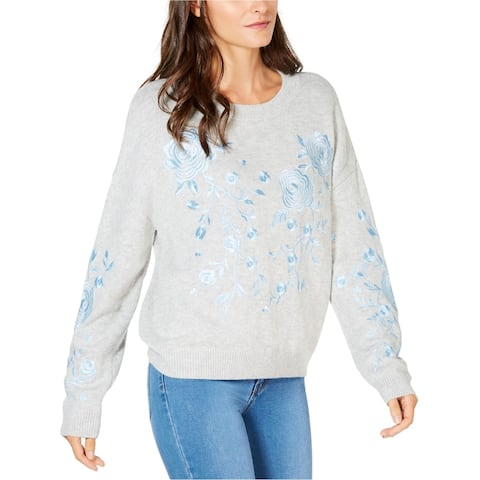 I-N-C Womens Embroidered Pullover Sweater