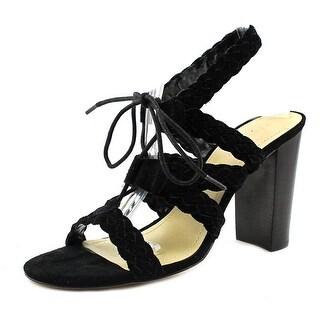 BCBGeneration Lorette-X Women Open Toe Suede Black Sandals