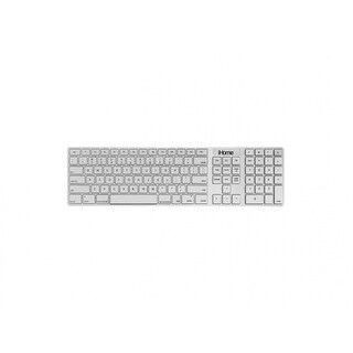 iHome IMAC-K121S Plug-N-Play Mac Keyboard, Full Size, Silver