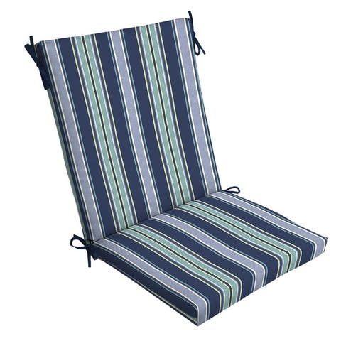 Arden Selections Sapphire Aurora Stripe Outdoor Chair Cushion - 44 in L x 20 in W x 3.5 in H