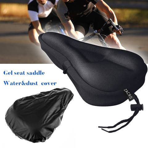 Gel Bike Seat Cover Extra Soft Gel Bicycle Seat Bike Saddle Cushion Water Dust Resistant Cover