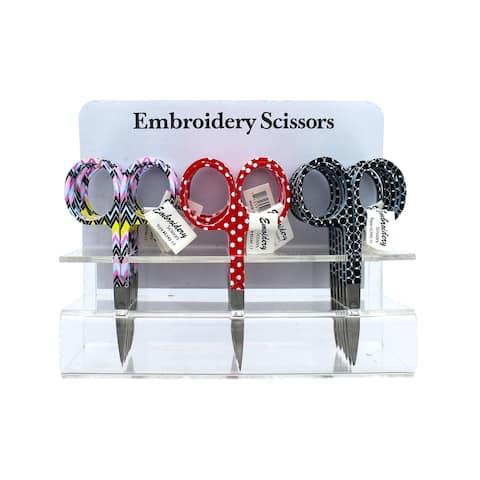 Allary Embroidery Scissors POP Zig Circle Dot 18pc