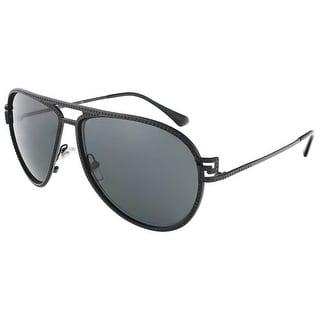 Versace VE2171B 125687/62 Matte Black Aviator sunglasses