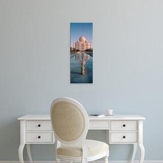 Easy Art Prints Panoramic Images's 'Facade Of A Building, Taj Mahal, Agra, Uttar Pradesh, India' Premium Canvas Art