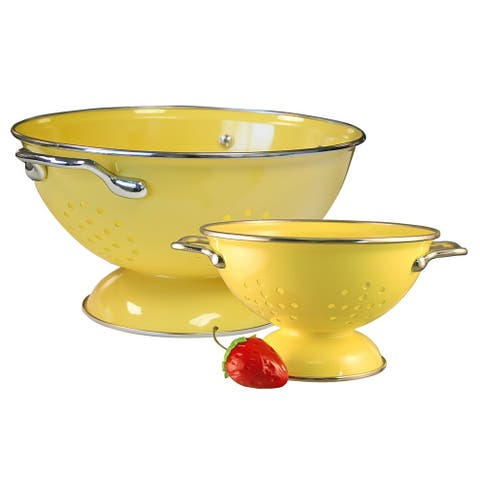 Reston Lloyd Colander Set, 1qt and 3qt, Lemon