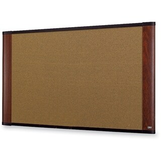 "3M C3624MY 3M Standard Cork Bulletin Board - 36"" Height x 24"" Width - Mahogany Wood Frame - 1 Each"