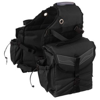 Tough-1 Saddle Bag Multi-Pocket Insulated Nylon Adjustable