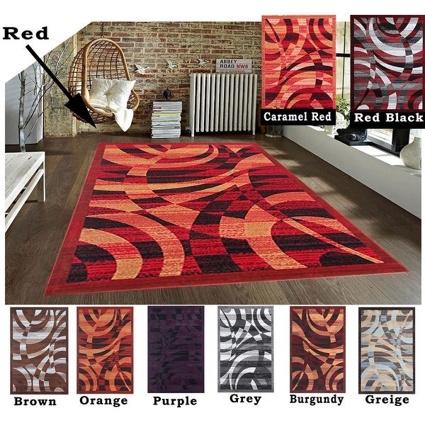 Shop 2x8 5x8 8x10 Rug Carpet Area Rug Brown Red Black Burgundy