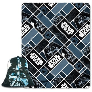"""Star Wars Darth Vader Character Pillow and 40"""" by 50"""" Fleece Throw"""
