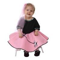 Toddler 50's Pink Poodle Skirt Halloween Set Costume