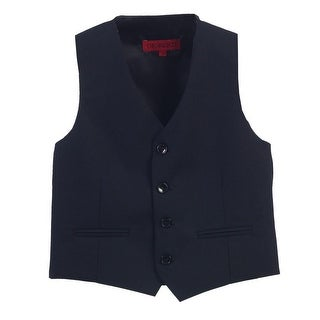 Gioberti Big Boys Navy Solid Color Four Button Classic Formal Vest