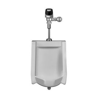 Sloan WEUS-1000.1201 Efficiency 0.125 GPF Urinal with Top Spud Placement and Solis Flushometer