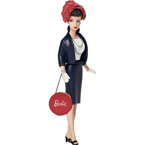 Carlton Cards Heirloom Retro Fashion Barbie Commuter Set Christmas Ornament