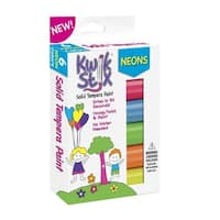 The Pencil Grip Kwik Stix Solid Tempera Paint, Neon Colors, Set of 6