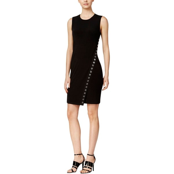 Calvin Klein Womens Casual Dress Asymmetric Grommet