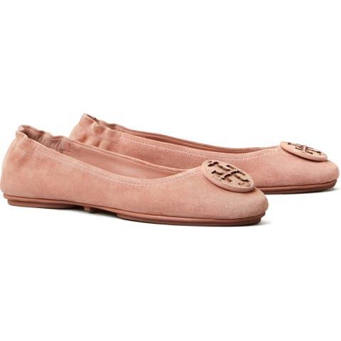 Tory Burch Womens Minnie Ballet Flats Malva