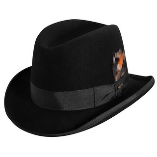 Scala Men's Wool Felt Winter Homburg Hat