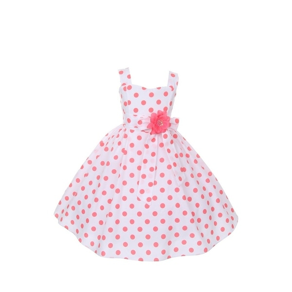 Cinderella Couture Baby Girls Pink White Polka Dot Belted: Shop Cinderella Couture Girls Coral Polka Dots Easter
