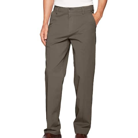 Dockers Mens Workday Khaki Pants Brown Size 38x29 Classic Fit Stretch
