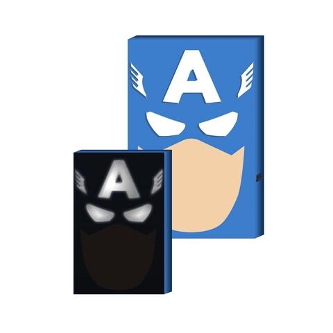 Captain America LED Hero Face Box Art