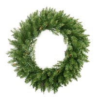 "36"" Pre-Lit Northern Pine Artificial Christmas Wreath - Multi-Color Lights - green"