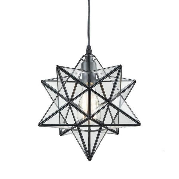Industrial Moravian star clear glass chandelier,edison pendant light. Opens flyout.