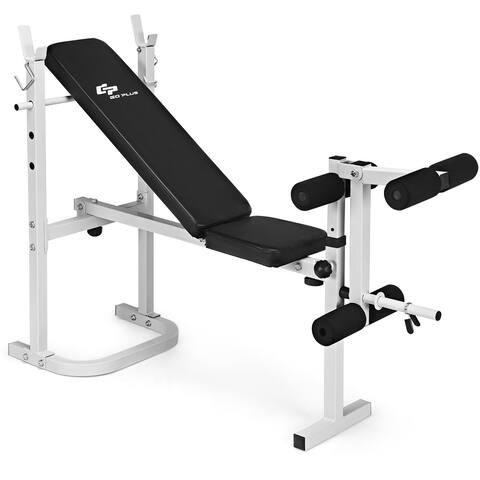 Olympic Folding Weight Bench Incline Lift Workout Leg Training Press