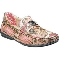 Stacy Adams Men's Cyprus Moc Toe Bit Loafer 25185 Rose Multi Synthetic