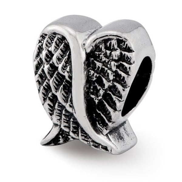 Sterling Silver Reflections Heart Shaped Wings Bead (4mm Diameter Hole)