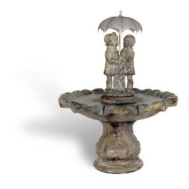 Figurine Cast Stone Summer Showers Fountain Finish: Relic Lava