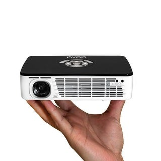 AAXA P300 Pico/Micro LED Projector with Built-in Battery, 400 ANSI Lumen, HDMI, Mini-VGA, 20,000 Hour LED, Onboard Media Player