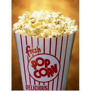 """A tub of popcorn"" Poster Print"