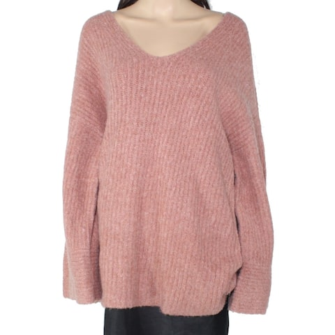 Madewell Women's Sweater Nude Pink Size Large L Cozy V-Neck Pullover