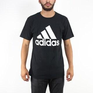 Adidas Originals White Performance Logo Men's Black T-shirt