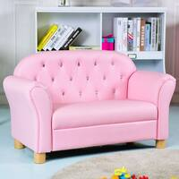 Gymax Kids Sofa Princess Armrest Chair Lounge Couch Loveseat Children Toddler Gift