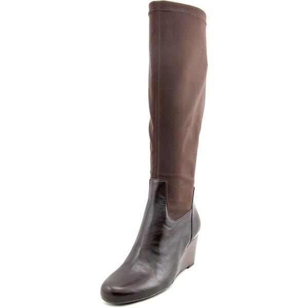 Isaac Mizrahi Kristen Women W Round Toe Canvas Knee High Boot