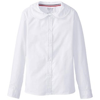 French Toast Girls 2T-4T Long-Sleeve Peter Pan Collar Blouse