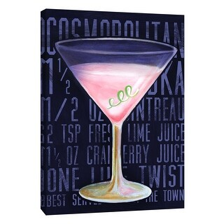 """PTM Images 9-108933  PTM Canvas Collection 10"""" x 8"""" - """"Cosmo (Vertical)"""" Giclee Liquor & Cocktails Art Print on Canvas"""