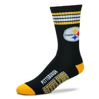 Pittsburgh Steelers 4 stripe Socks - Black