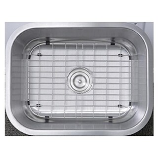 23 in. Small Rectangle Single Bowl Undermount Stainless Steel