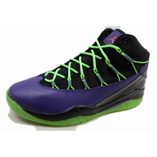 Nike Men's Air Jordan Prime Flight Black/Club Pink-Court Purple-Flash Lime Bel Air 616846-018