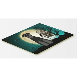 Carolines Treasures BB2222CMT Halloween Scary Standard Schnauzer Black Kitchen or Bath Mat 20 x 30