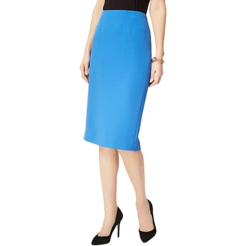 Kasper Womens Pencil Skirt Solid Knee-Length