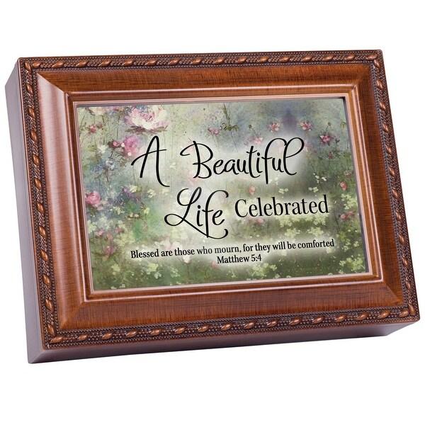 "8' Brown ""A Beautiful Life Celebrated"" Music Keepsake Box - N/A"