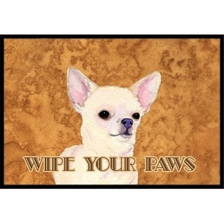 Carolines Treasures SS4902MAT 18 X 27 In. Chihuahua Wipe Your Paws Indoor Or Outdoor Mat