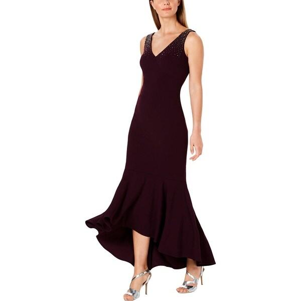 Calvin Klein Womens Formal Dress V-Neck Hi-Low. Opens flyout.