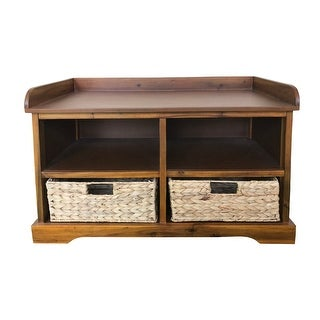 Link to Hayden Storage Bench with 2 Baskets Similar Items in Living Room Furniture