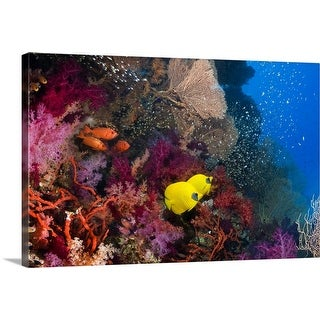 """""""Coral reef"""" Canvas Wall Art"""